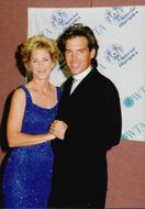 Tennis player Chris Evert with boyfriend