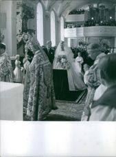 Princess Birgitta of Sweden and Prince Johann Georg of Hohenzollern religious wedding, 1961.