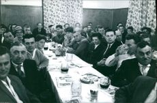 People gathered in a meeting.