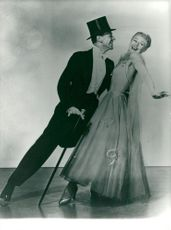"""Fred Astaire and Ginger Rogers in """"Flying to Rio"""""""