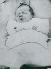 Captain Charles Lindbergh's baby who has been kidnapped