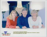 The tennis player Steffi Graf together with his father Peter and mother Heidi at home in Mannheim