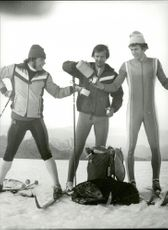 Bjarne Andersson, Christer Johansson and Thomas Wassberg after training