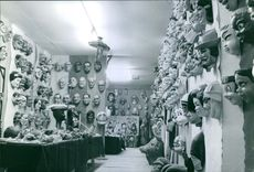 View of different types of carnival masks in a shop for carnival of mask or The Carnival of Venice.