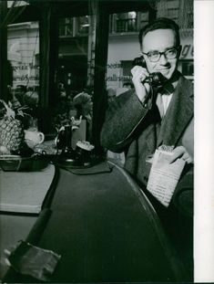 A man pictured talking on the phone.