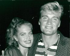 Dolph Lundgren and girlfriend paul barbieri.