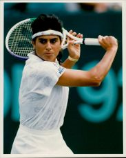 Portrait of Gabriela Sabatini during the tennis match
