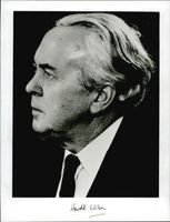 A side view of Harold Wilson.