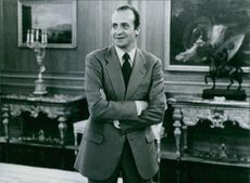 King Juan Carlos I of Spain inside the Zarzuela Palace on the outskirts of Madrid, 1981.