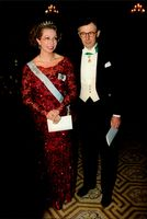 Princess Christina and her husband, Tord Magnusson, at the year's first representation dinner at Stockholm Castle