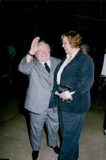 Mickey Rooney with a friend at dinner at the Friends of Sheba Medical Center Humanitarian Awards in Beverly Hills