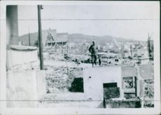 Molde i august 1940.(Molde in August 1940th) was devastated during the German invasion in Noway.