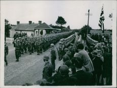 King and Queen Review British Troops In Northern Ireland. 1942