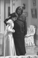 Geraldine Chaplin and Gert Fröbe in I Killed Rasputin.