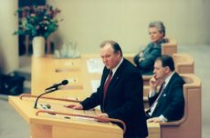 Göran Persson in the speeches during today's party leadership debate
