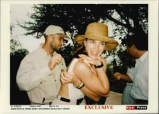 American tennis player Andre Agassi and his wife, actress Brooke Shields, on safari in Singita
