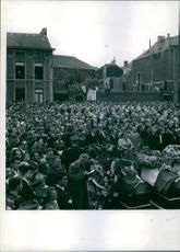1956  Burial of a part of the mining affren alydsan Marcirull in Belgium