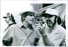 """A photo of Nick Nolte and James L. Brooks in a film """"I'll Do Anything"""" 1994"""