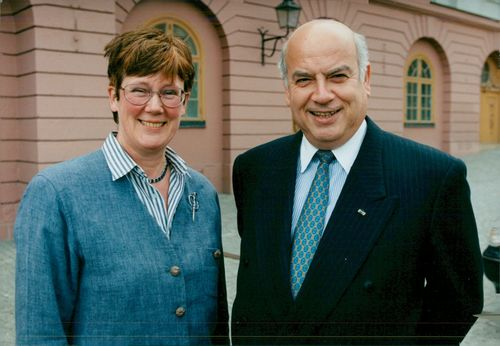 Foreign Minister from Chile, José Miguel Insulza, together with Swedish Foreign Minister Lena Hjelm Wallén.