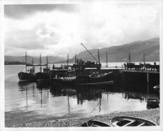 A photograph of the boats at harbour.