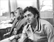 Björn Borg and Tom Gorman during a press conference in connection with the Stockholm Open 1973