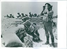 British troops in the desert