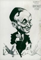 France's Foreign Minister Georges Bidault in a Carousel of Maudouit