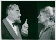 "Anders de Wahl and Elsa Widborg in ""Swedenhielms"" at Göteborg City Theater"