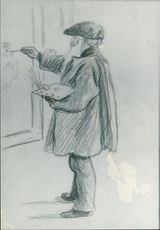 Works by Lucien Pissaro: The father drawn by the Son.