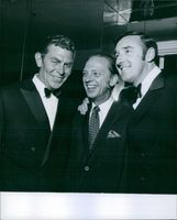 Actor Jim Nabors, Comedian Don Knotts and Director Andy Griffith is passing a joyful time together. 1969.