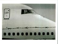 Aircraft Skyjack All Nippon 747 1995: Hijacked, boeing 747 sits on the runaway of Hakodate airport 21 June after landing.
