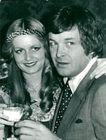 The actress and the model Twiggy with Michael Witney