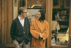 Woody Allen och Soon-Yi under inspelningen av Fall Project