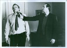 """Brian Dennehy stars as William Kirwill and William Hurt as Arkady Renko in a scene from the film """"Gorky Park""""."""