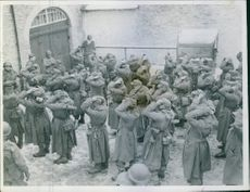 A group of soldiers exercising