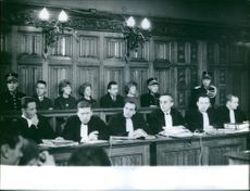 Judges during the Suzanne Vandeput proceeding in Liège. 1962