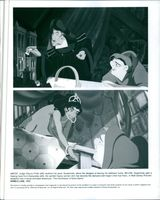 Scenes from the animated movie The Hunchback of Notre Dame, 1996.
