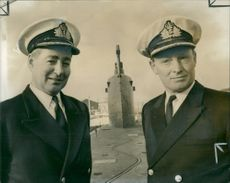 Captain Robin Heath and Commander Kenneth Mills.