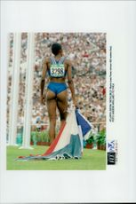 Marie-Jose Perec, winner of the final 400m OS in Atlanta 1996