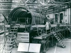 Part of the sixth production aircraft, at the British aircraft Corporation works in Filton, Bristol.