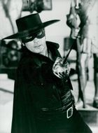 "Actor Alain Delon in the movie ""Zorro"""