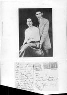 The author Franz Kafka together with fiancé Felice Bauer - Year 1917