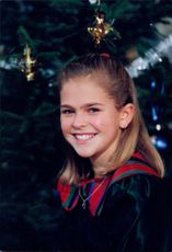 Princess Madeleine faces the annual Christmas photo at Drottningholm Castle