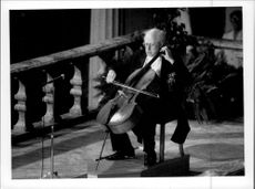 Mstislav Rostropovich played during the nobility celebrations in the City Hall