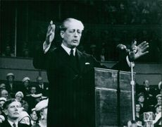 A photo of a British Conservative politician and statesman Harold Macmillan.