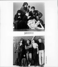 Ally Sheedy,Michael Anthony Hall,Judd Asher Nelson,Emilio Estevez and Molly Kathleen Ringwald posing for photograph.