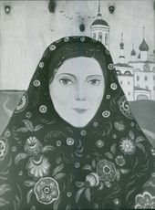 Painting of Ilya Glazunov