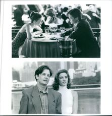 Different scenes from the film For Love or Money with Gabrielle Anwar and Michael J. Fox, 1993.