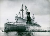 Finnboda Varv's new dock was enlisted by the Gothenburg shipping company
