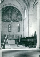 Lund Cathedral during restoration